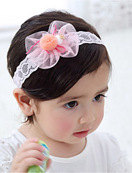 cheap -Kids Girls' Sweet Daily Bowknot Lace Rayon Hair Accessories Pink One-Size / Headbands