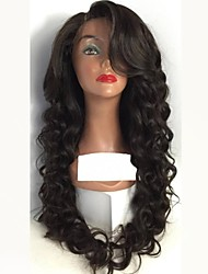 cheap -Remy Human Hair Lace Front Wig Layered Haircut style Peruvian Hair Wavy Black Wig 150% Density with Baby Hair Natural Hairline For Black Women Women's Long Human Hair Lace Wig Aili Young Hair