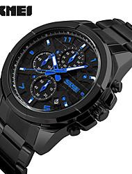 cheap -SKMEI Men's Dress Watch Wrist Watch Quartz Black / Silver 30 m Water Resistant / Waterproof Calendar / date / day Stopwatch Analog Classic Casual Fashion - Silver / Black Black / White Silvery / White