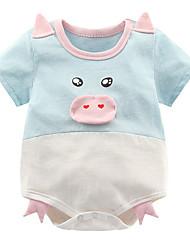 abordables -bébé Fille Actif Imprimé Manches courtes Le maillot de corps Blanc