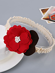 cheap -Kids Girls' Basic Daily Floral Floral Style Rayon Hair Accessories Red / Pink One-Size / Headbands