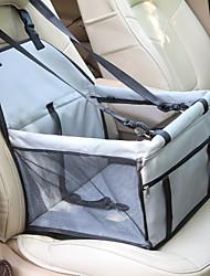 Недорогие -Собаки Кролики Коты Переезд и перевозные рюкзаки Кровати Pet Booster Seat Животные Корпусы Компактность Мягкий Чехол в комплекте Однотонный Мода Синий Светло-синий Черный