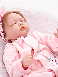 cheap -FeelWind Reborn Doll Girl Doll Baby Girl 22 inch Newborn lifelike Hand Made Child Safe Non Toxic Parent-Child Interaction Kid's Girls' Toy Gift