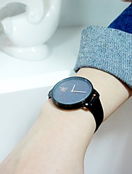 Недорогие -SK Жен. Наручные часы Японский Японский кварц Стеганная ПУ кожа Черный 30 m Защита от влаги Ударопрочный Аналоговый Дамы Мода - Черный Два года Срок службы батареи