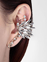 cheap -Women's Ear Cuff 3D Butterfly Ladies Stylish Classic Rhinestone Earrings Jewelry White / Rainbow For Daily 1pc