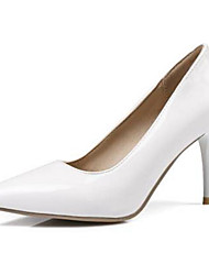 cheap -Women's Heels Plus Size Stiletto Heel Comfort Basic Pump Daily PU Summer White / Black / Yellow