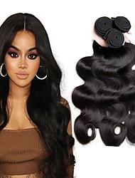 Недорогие -3 Связки Перуанские волосы Волнистый Натуральные волосы 150 g Человека ткет Волосы Удлинитель Пучок волос 8-28 дюймовый Естественный цвет Ткет человеческих волос Классический Лучшее качество / 8A