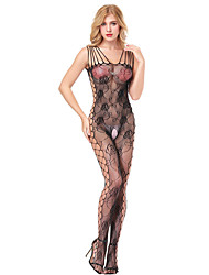 cheap -Women's Cut Out / Mesh Suits Nightwear Jacquard Black Red Purple One-Size