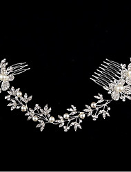 cheap -Alloy Hair Combs / Hair Accessory with Rhinestone 1 Piece Wedding / Special Occasion Headpiece