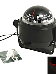 cheap -Pivoting Compass Dashboard Dash Mount Marine Boat Truck Car Black with Led Light Compasses