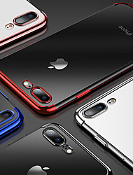 cheap -Case For Apple iPhone XS / iPhone XR / iPhone XS Max Plating / Transparent Back Cover Solid Colored Soft TPU