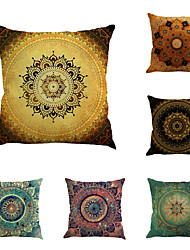 cheap -6 pcs Linen Pillow Cover, Special Design Geometric Pattern Chic & Modern Fashion Throw Pillow