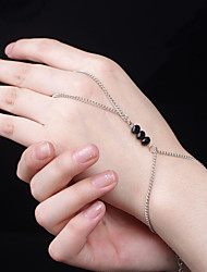 cheap -Women's Crystal Ring Bracelet / Slave bracelet Ladies Simple Vintage Fashion Elegant Alloy Bracelet Jewelry Black For Party Birthday
