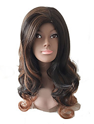 cheap -Synthetic Wig Curly Layered Haircut Wig Long Medium Brown / Strawberry Blonde Synthetic Hair Women's Party Brown