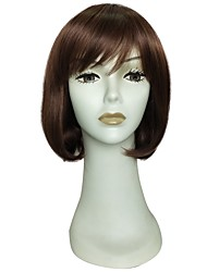 cheap -Synthetic Wig Cosplay Wig Curly Bob Short Bob Wig Long Brown Synthetic Hair Women's Simple Women Synthetic Brown / Natural Hairline / Doll Wig / Natural Hairline