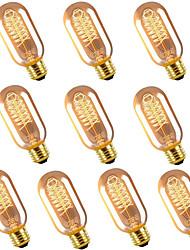cheap -10pcs 40 W E26 / E27 T45 Warm White 2300 k Retro / Dimmable / Decorative Incandescent Vintage Edison Light Bulb 220-240 V