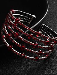 cheap -Women's Crystal Bracelet Bangles Cuff Bracelet European Fashion Alloy Bracelet Jewelry Red For Wedding Daily