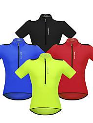 cheap -WOSAWE Men's Short Sleeve Cycling Jersey Red Green Blue Bike Jersey Mountain Bike MTB Road Bike Cycling Reflective Strips Back Pocket Sports Clothing Apparel / Stretchy / Advanced / Advanced