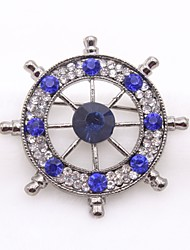 cheap -Men's Sapphire Cubic Zirconia Brooches Sculpture Anchor Ladies Classic Fashion Brooch Jewelry Gold Silver For Daily