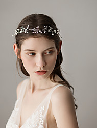 cheap -Beads Headbands with Crystals / Rhinestones 1 Piece Wedding / Party / Evening Headpiece