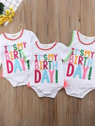 cheap -Baby Girls' Active / Basic Holiday / Birthday Print Print Long Sleeve Bodysuit White