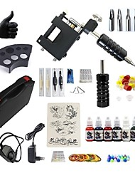 cheap -BaseKey Tattoo Machine Starter Kit - 1 pcs Tattoo Machines with 7 x 15 ml tattoo inks, Professional, New, Adjustable Fit Aluminum Alloy Charger Direct Case Included 20 W 1 rotary machine liner