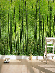 cheap -Green Bamboo Oxygen Bar Map Customized Wallcovering 3D Mural Wallpaper Suitable for Office Bedroom Kitchen