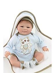 Недорогие -NPKCOLLECTION 18 дюймовый NPK DOLL Куклы реборн Мальчики как живой Подарок Искусственная имплантация Коричневые глаза с одеждой и аксессуарами на день рождения и праздничные подарки для девочек