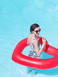 cheap -Heart Shape Inflatable Pool Floats PVC Inflatable Durable Swimming Water Sports for Adults 110*90 cm