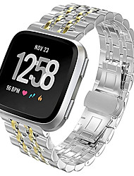 cheap -Watch Band for Fitbit Versa Fitbit Butterfly Buckle Metal / Stainless Steel Wrist Strap