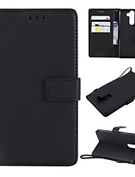 cheap -Case For Nokia Nokia 9 / Nokia 8 / Nokia 6 Wallet / Card Holder / Flip Full Body Cases Solid Colored Hard PU Leather