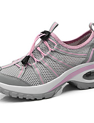 cheap -Women's Athletic Shoes Creepers Tulle Comfort Running Shoes Spring & Summer Dark Grey / Purple / Light Pink