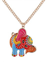 cheap -Women's Pendant Necklace Long Elephant Ladies Cartoon Vintage Fashion Alloy Gold Silver 62+5 cm Necklace Jewelry 1pc For Daily Street
