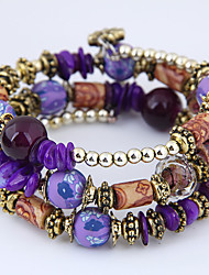 cheap -Women's Bead Bracelet Wrap Bracelet Layered Bohemian European Fashion Resin Bracelet Jewelry Purple For Daily