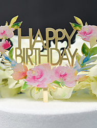 cheap -Classic Theme Birthday Cake Accessories Acryic / Polyester Cut Out Acrylic All Seasons 1 pcs As Picture