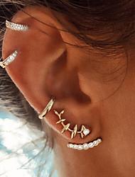 cheap -Women's Stud Earrings Jacket Earrings Helix Earrings cuff Fish Fashion Blinging Earrings Jewelry Gold For Holiday Bar 4pcs