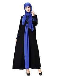 cheap -Women's Maternity Party Daily Midi Swing Abaya Jalabiya Dress Spring Wool Blue Gold Green XL XXL XXXL