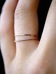 cheap -Ring Rope Gold Alloy Moon Phase Ladies Unusual Simple 1pc 6 7 8 9 / Women's / Ring Set / Tail Ring