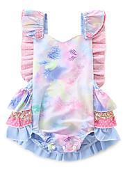 cheap -Baby Girls' Active / Basic Daily / Holiday Galaxy / Print Print Sleeveless Bodysuit Purple / Toddler