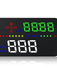 cheap -A300 3.5 inch LED Wired Head Up Display New Design / Night Vision / 360° monitoring for Car GPS Navigation / Measure Driving Speed /