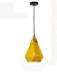cheap -1-Light 22 cm Pendant Light Metal Cone Painted Finishes Nature Inspired / Country 110-120V / 220-240V