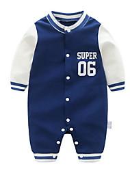 cheap -Baby Boys' Basic Daily Print Long Sleeve Romper Blue / Toddler