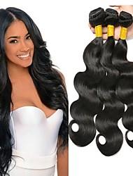 cheap -3 Bundles Malaysian Hair Wavy Human Hair Natural Color Hair Weaves / Hair Bulk Human Hair Extensions 8-28 inch Natural Color Human Hair Weaves Fashionable Design Best Quality New Arrival Human Hair