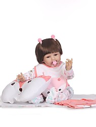 cheap -NPKCOLLECTION NPK DOLL Reborn Doll Girl Doll Baby Girl 24 inch Silicone - Newborn Gift Child Safe Non Toxic Tipped and Sealed Nails Natural Skin Tone Kid's Girls' Toy Gift