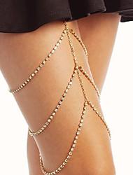 cheap -Women's Body Jewelry 45 cm Leg Chain Gold / Silver Line Ladies / Stylish Rhinestone / Alloy Costume Jewelry For Club / Bikini 13.0*9.0*3.0 cm Summer