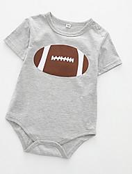 cheap -Baby Boys' Active Geometric Short Sleeves Romper White