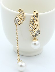 cheap -Women's Mismatch Earrings Mismatched Wings Ladies Stylish Classic Rhinestone Earrings Jewelry Gold For Daily 1 Pair