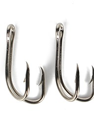 cheap -50 pcs Worm Hooks Fishing Hooks Thin Hang-Nail / Curved Point Sea Fishing / Bait Casting / Ice Fishing Carbon Steel Hot Sale / Jigging Fishing / Freshwater Fishing / Carp Fishing / Bass Fishing