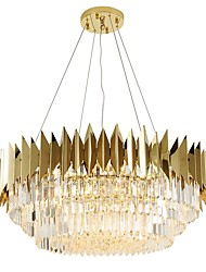 cheap -12 Bulbs QIHengZhaoMing 60 cm Chandelier Metal Crystal Painted Finishes Modern 110-120V / 220-240V