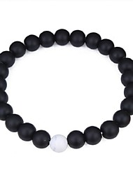 cheap -Women's Obsidian Bead Bracelet Ladies Ethnic Fashion Agate Bracelet Jewelry Black For Daily Ceremony
